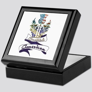 Scottish American Thistle Keepsake Box